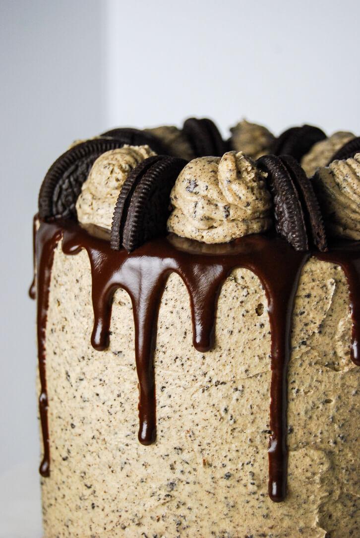 Astonishing Peanut Butter Oreo Cake Flour Covered Apron Funny Birthday Cards Online Kookostrdamsfinfo