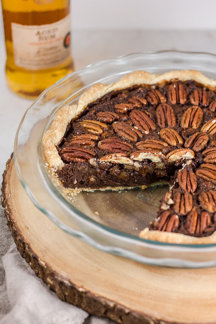 Chocolate Pecan Pie with Rum-3 | Flour Covered Apron
